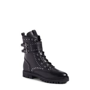Marc Fisher Josette Black Belted Moto Boot Size 5